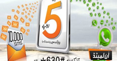 Activate Ufone Daily Chat Bundle