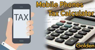 Mobile Phones Tax Calculator Pakistan - Tax & Duties