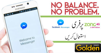 Use FREE Facebook Messenger on your Zong 4G SIM
