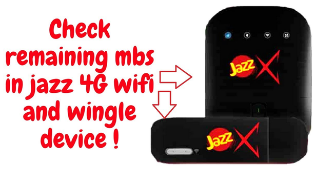 Check Remaining Data or Mbs on Jazz 4G Device